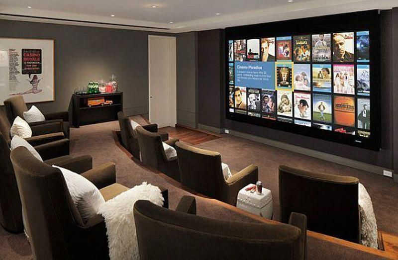 Basement Home Theater Ideas Diy Small Spaces Budget Medium Inspiration Tab Basement Budget Diy Home Ideas Inspiration M In 2020 Home Theater Seating Media Room Design Home Theater Setup