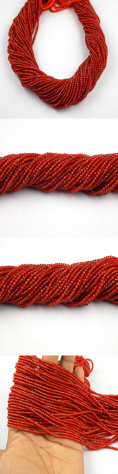 Carnelian 110790: 5 Strand Carnelian Rondelle Approx 2.20Mm Micro Faceted Gemstone Beads 13 Long -> BUY IT NOW ONLY: $34.91 on eBay!