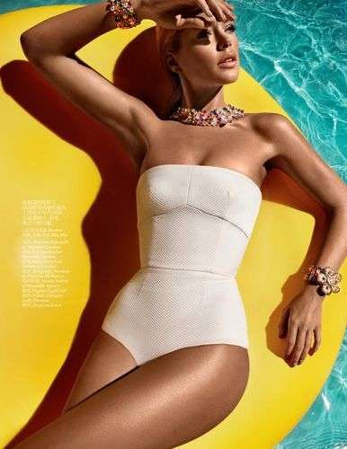90b76e80b57 Excessive Bronzed Photoshoots - Get Ready for Summer with this Vogue China  June 2012 Editorial (