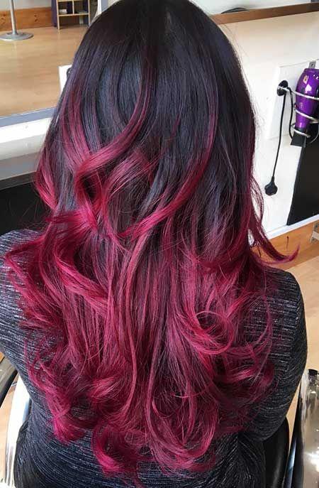 Erstaunliche Schwarze Und Rote Farbige Frisuren Rote Frisuren Rot