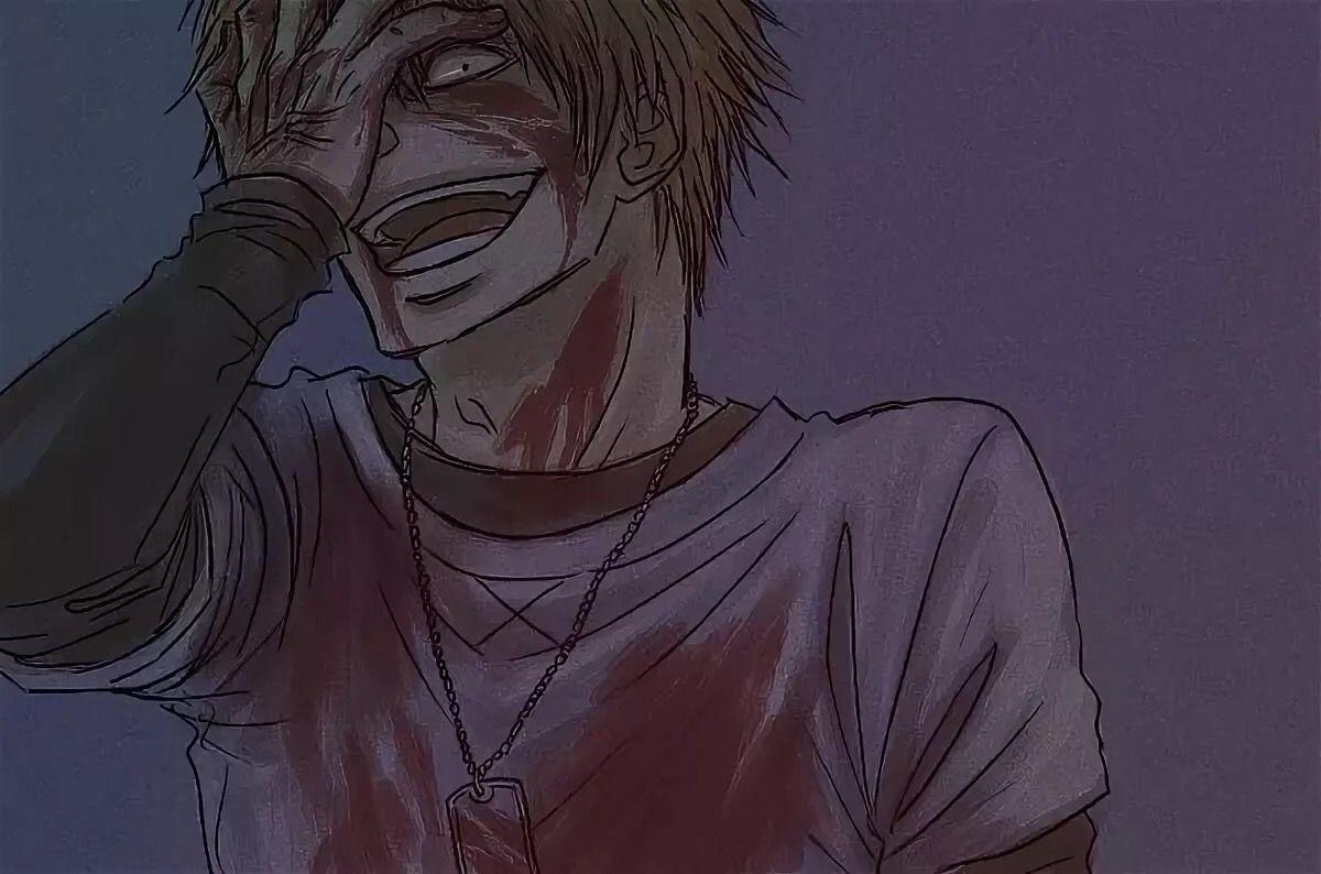 Картинки на аву аниме парни психи