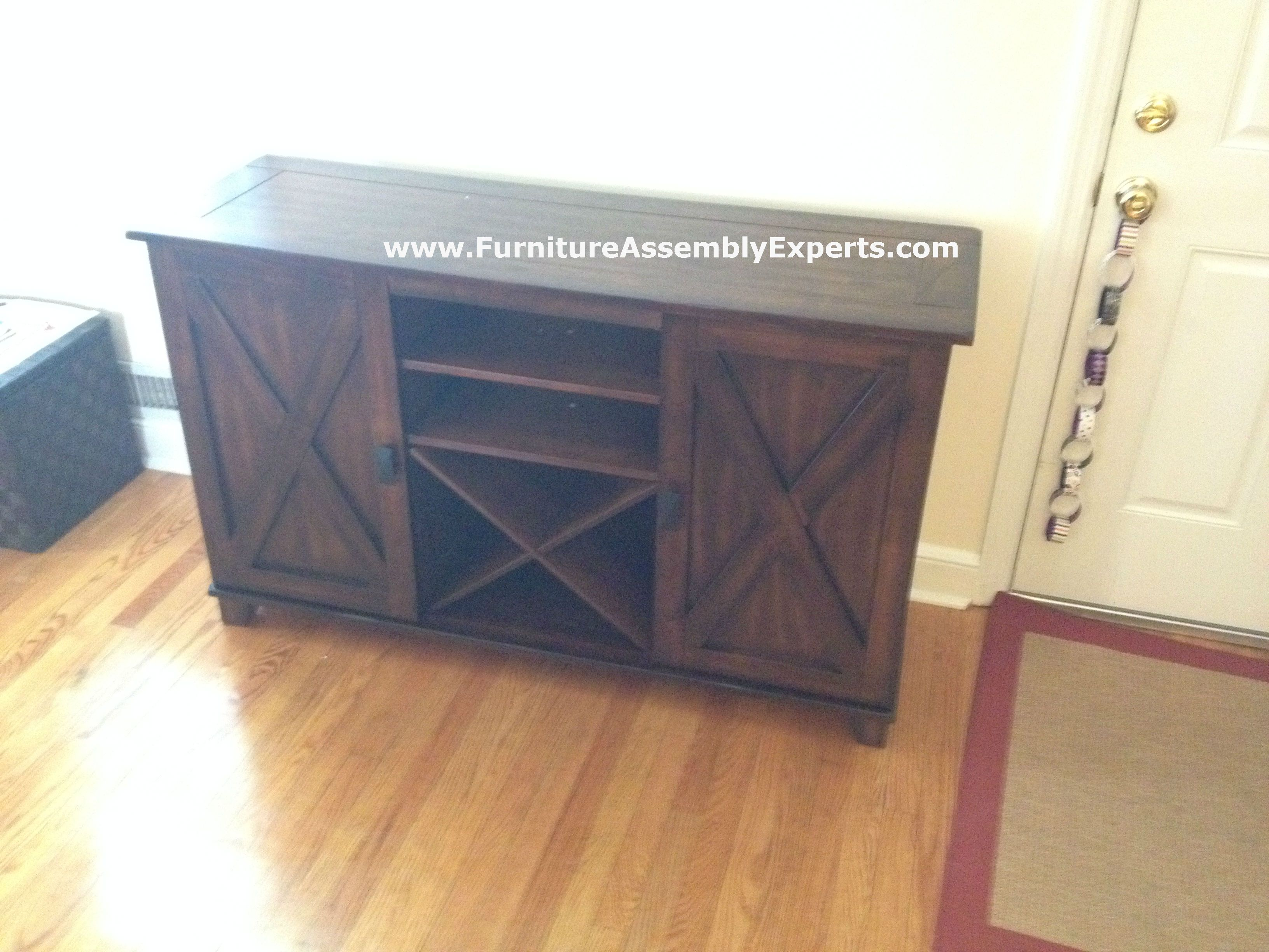 World Market Verona Buffet Tv Stand Assembled In Bethesda MD By Furniture Assembly Experts LLC