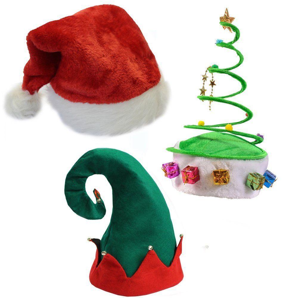 Christmas Felt Elf Hat with Bells