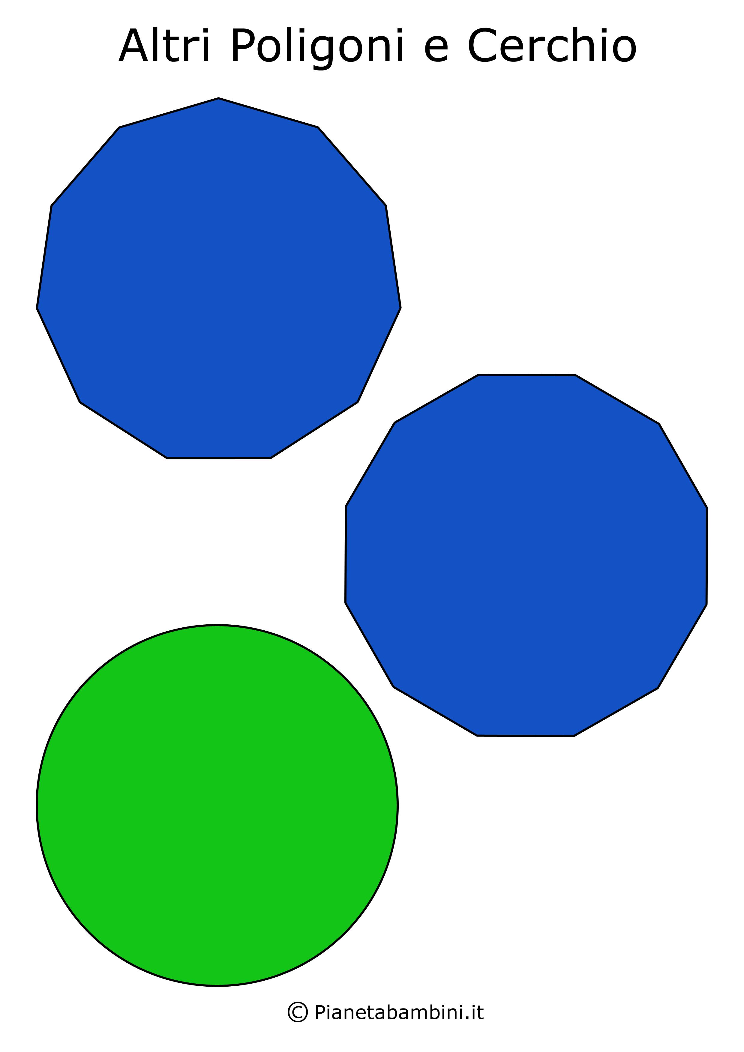 Figure Geometriche Piane Da Stampare E Ritagliare Per Bambini Math