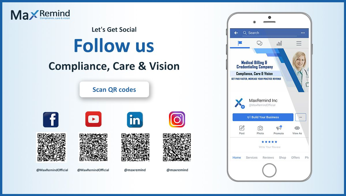 Connect with maxremind on social media medical billing