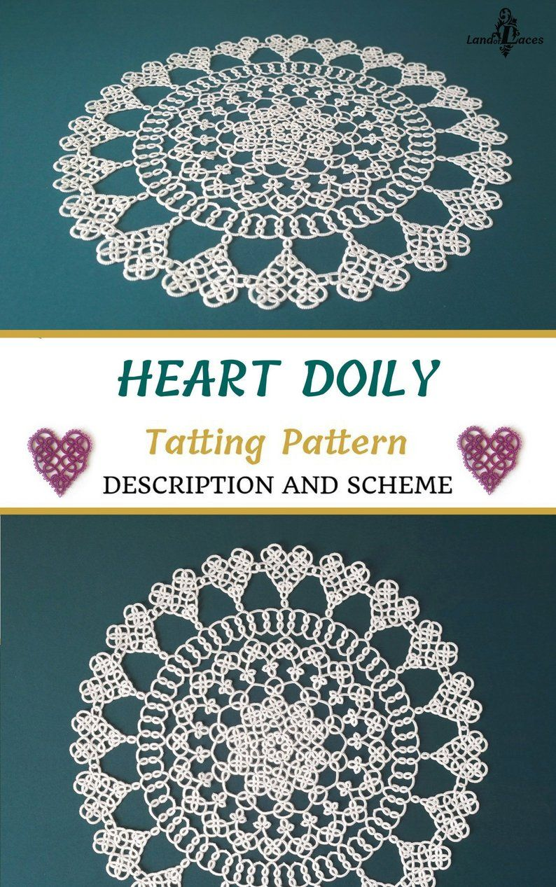 Heart Doily Tatting Pattern Pdf Download Visual Pattern With