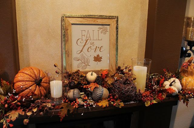Southern Seazons: Fall In Love Mantel