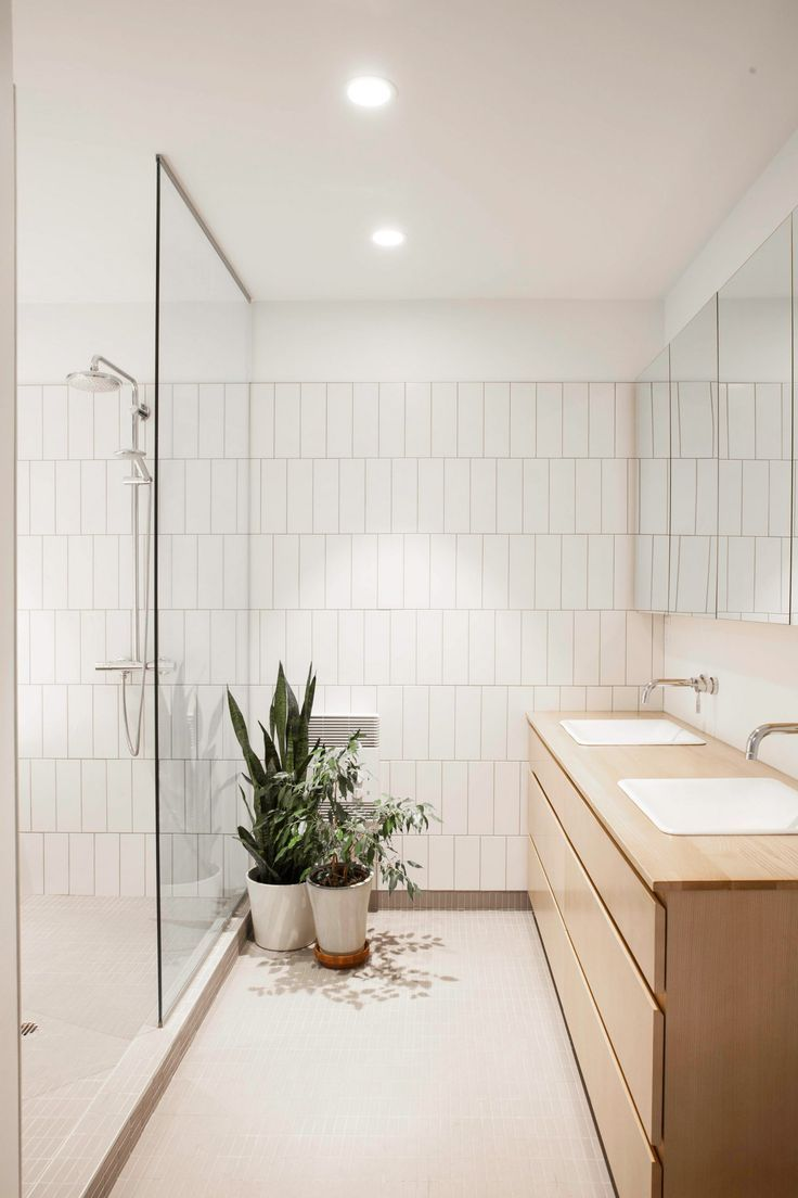 Appareil Architecture Transforms Two Flats Into House With Sunken Lounge.  Simple BathroomBathroom IdeasModern White ...