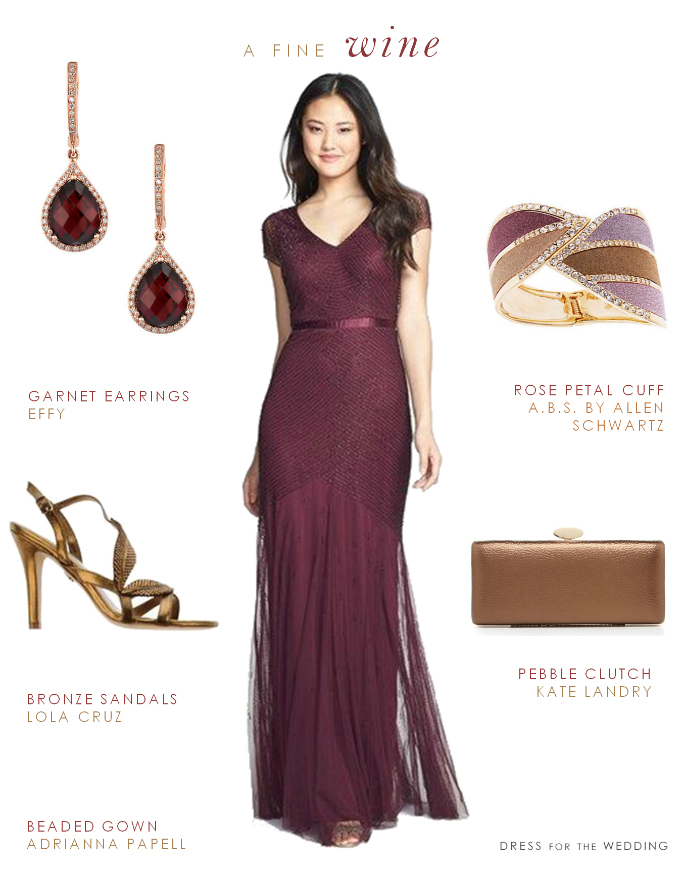 Wine Colored Mother Of The Bride Dress Wine Colored Dresses