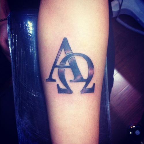 Alpha And Omega Greek Letters Beginning And The End Tattoos Alpha Omega Tattoo Piercing Tattoo