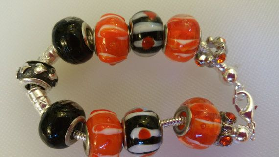 Handmade Bracelet Orange Swarovski by IsabellaRobinJewelry on Etsy