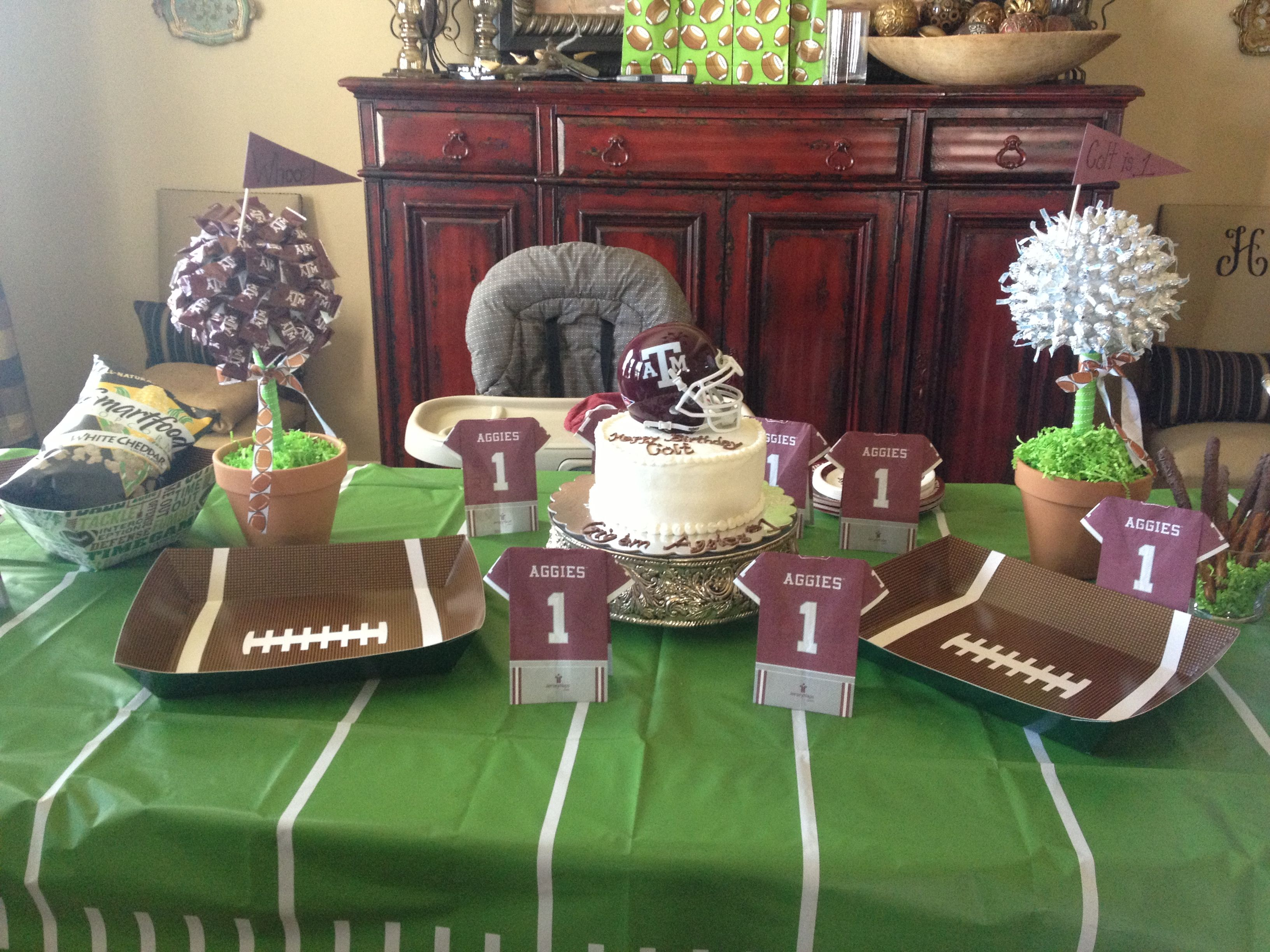Texas A&M 1St Birthday Football Party