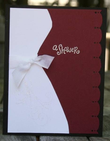 Folded Bridal Shower Invitations by MrsOke by MrsOke - Cards and Paper Crafts at Splitcoaststampers