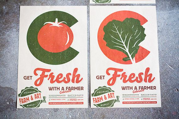 Matte Colorado Farmers Market Poster Get Fresh With A by ...