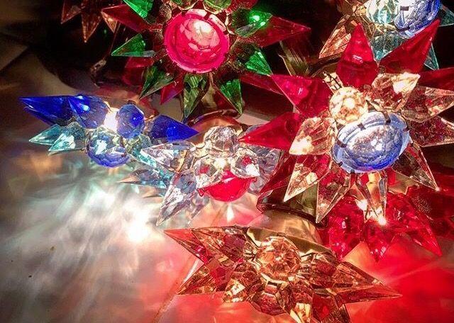 Prewar czech crystal Christmas lights