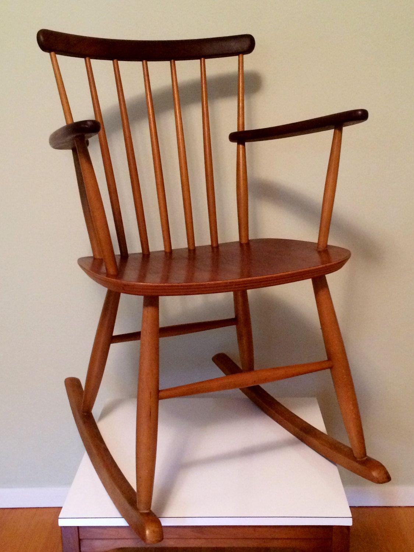 Danish Rocking Chair / Bilund Stolefabrik Rocker / Nursery
