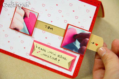 """Craftingeek*: Tarjeta Complemento: """"Mi otra mitad"""" // Día del amor ..."""