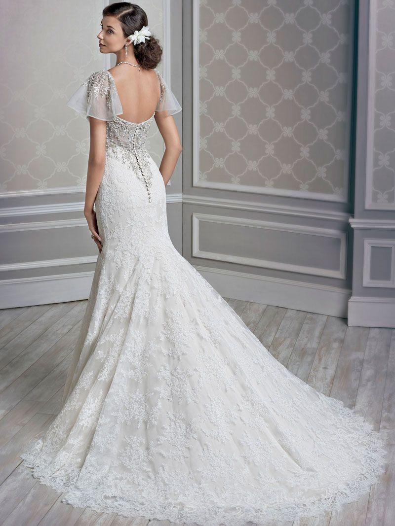 Silhouette Sleeves BigDayMcVey Wedding Dress Inspiration - Flutter Sleeve Wedding Dress