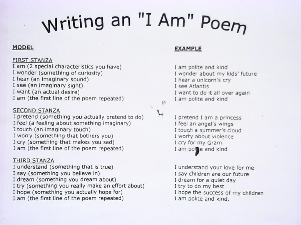 Poetry Therapy Technique Writing I Am Poem
