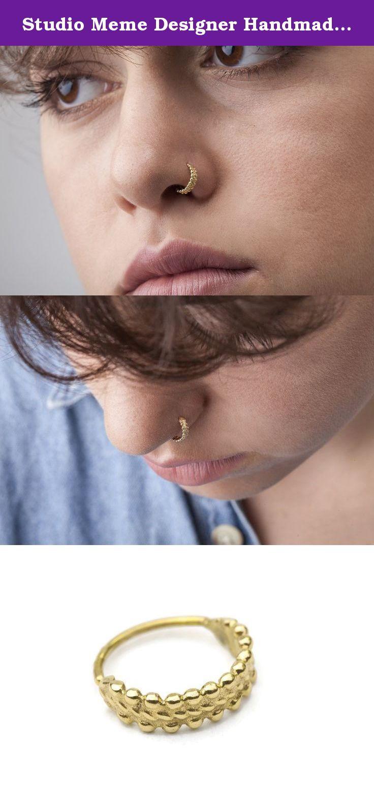 Studio Meme Designer Handmade Nose Rings available in Solid k