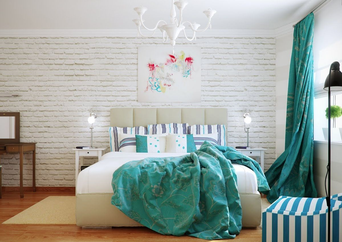Bedroom decorating ideas with turquoise - 21 Gorgeous Bedroom Interior Designs From Shabby Chic To Modern