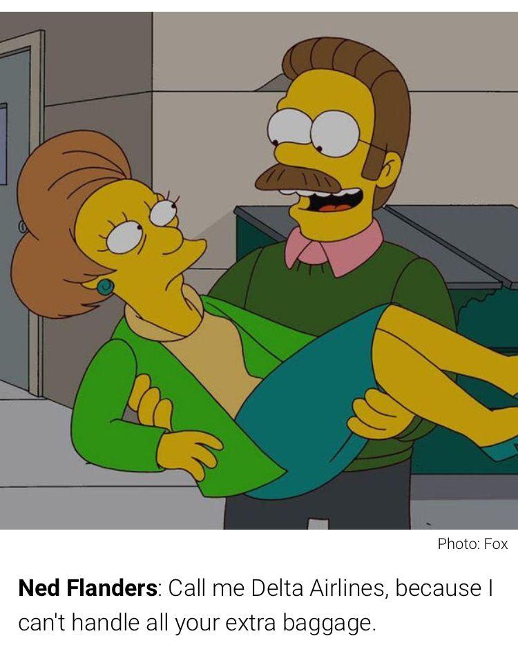 Ned Flanderi dating Edna