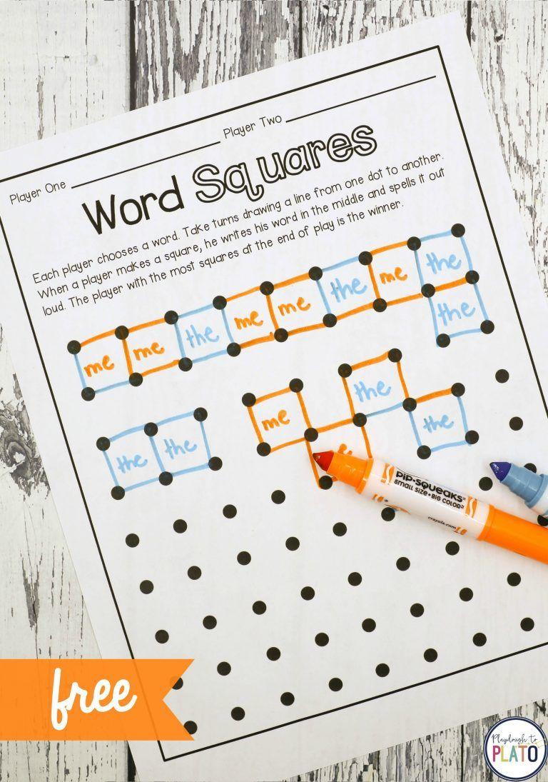 Sight Word Game: Magic Squares | Kind, Logopädie und Lernen