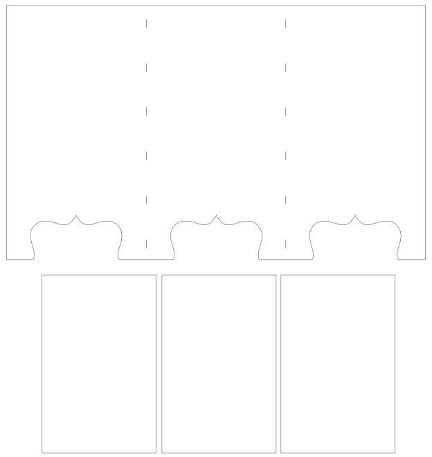 Screen Divider Card 3 Panels Screen Cards Gatefold Cards Card Making Templates