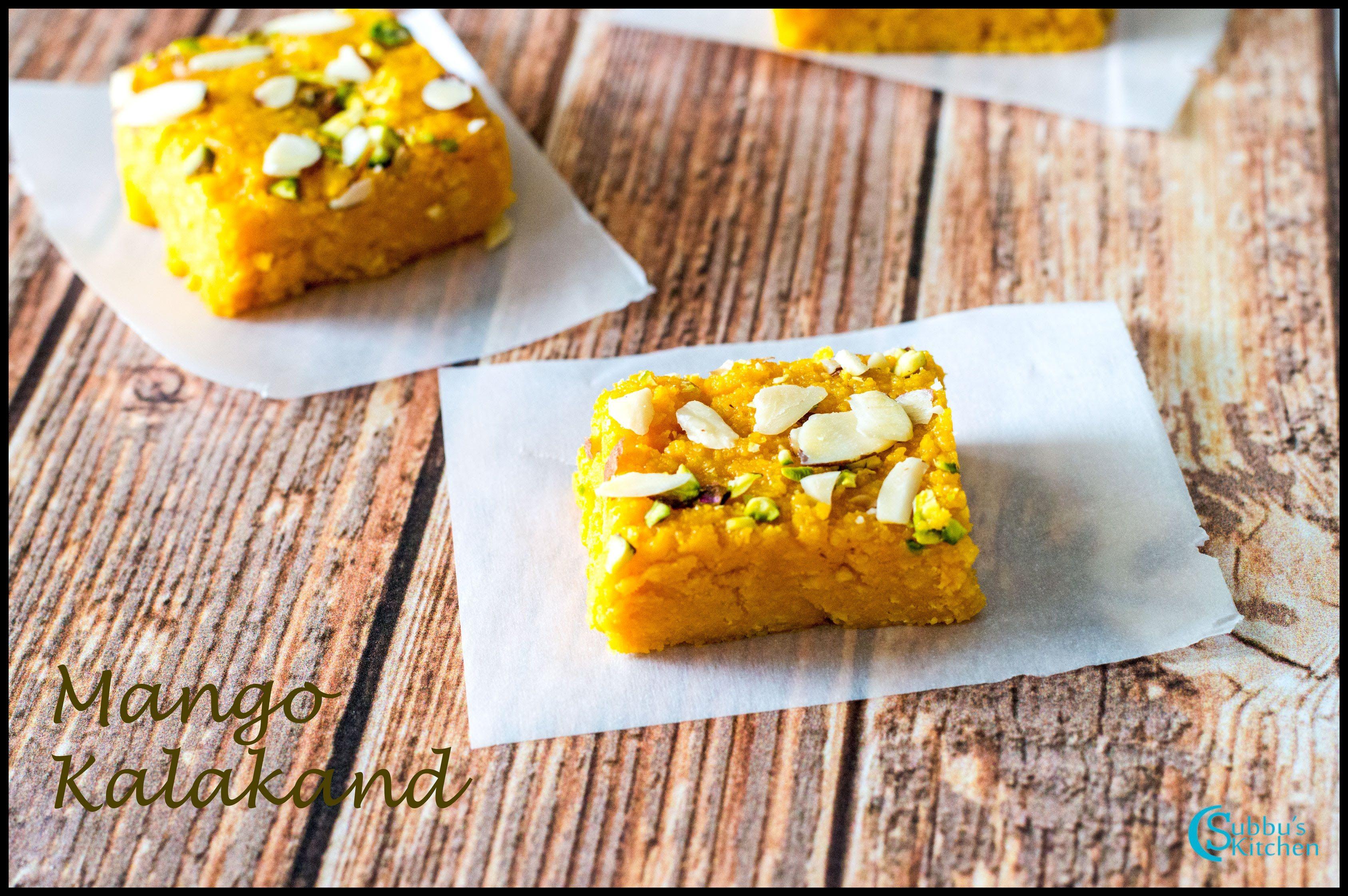 Mango Kalakand Kalakand Recipe Indian Dessert Recipes Indian Desserts