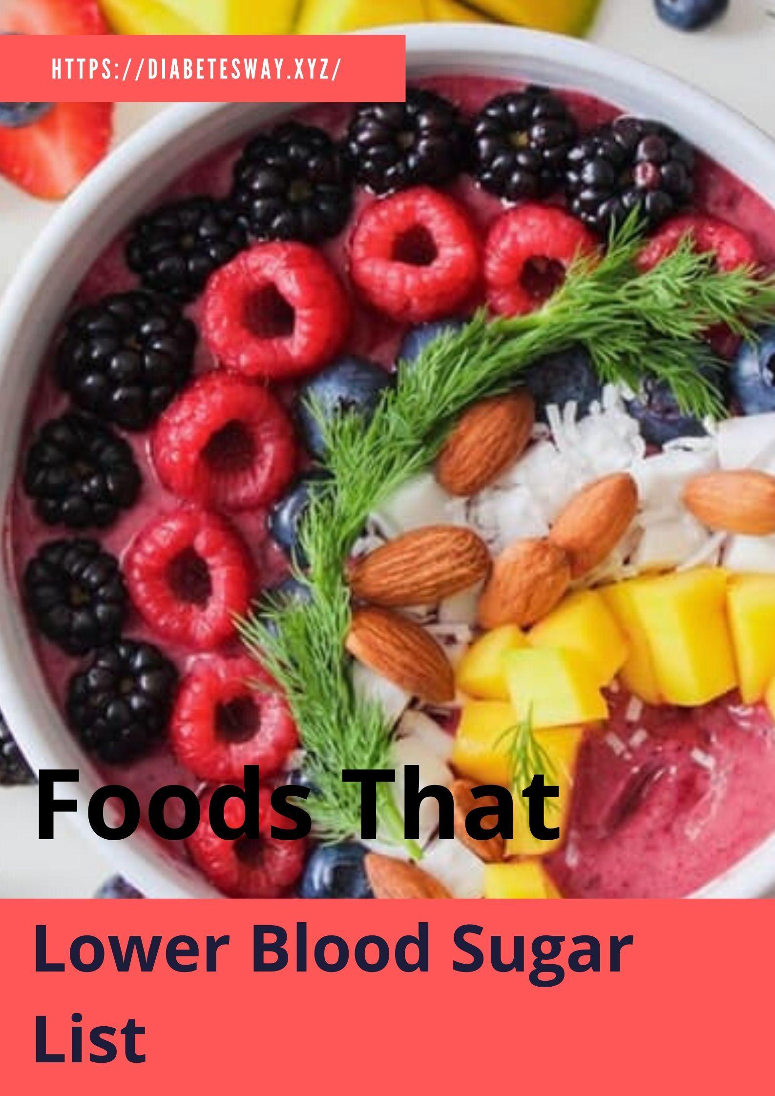 Foods that lower blood sugar list diabetestype2