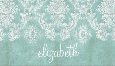 Vintage mint and white damask pattern grungy finish business cards vintage mint and white damask pattern grungy finish business cards http reheart Gallery