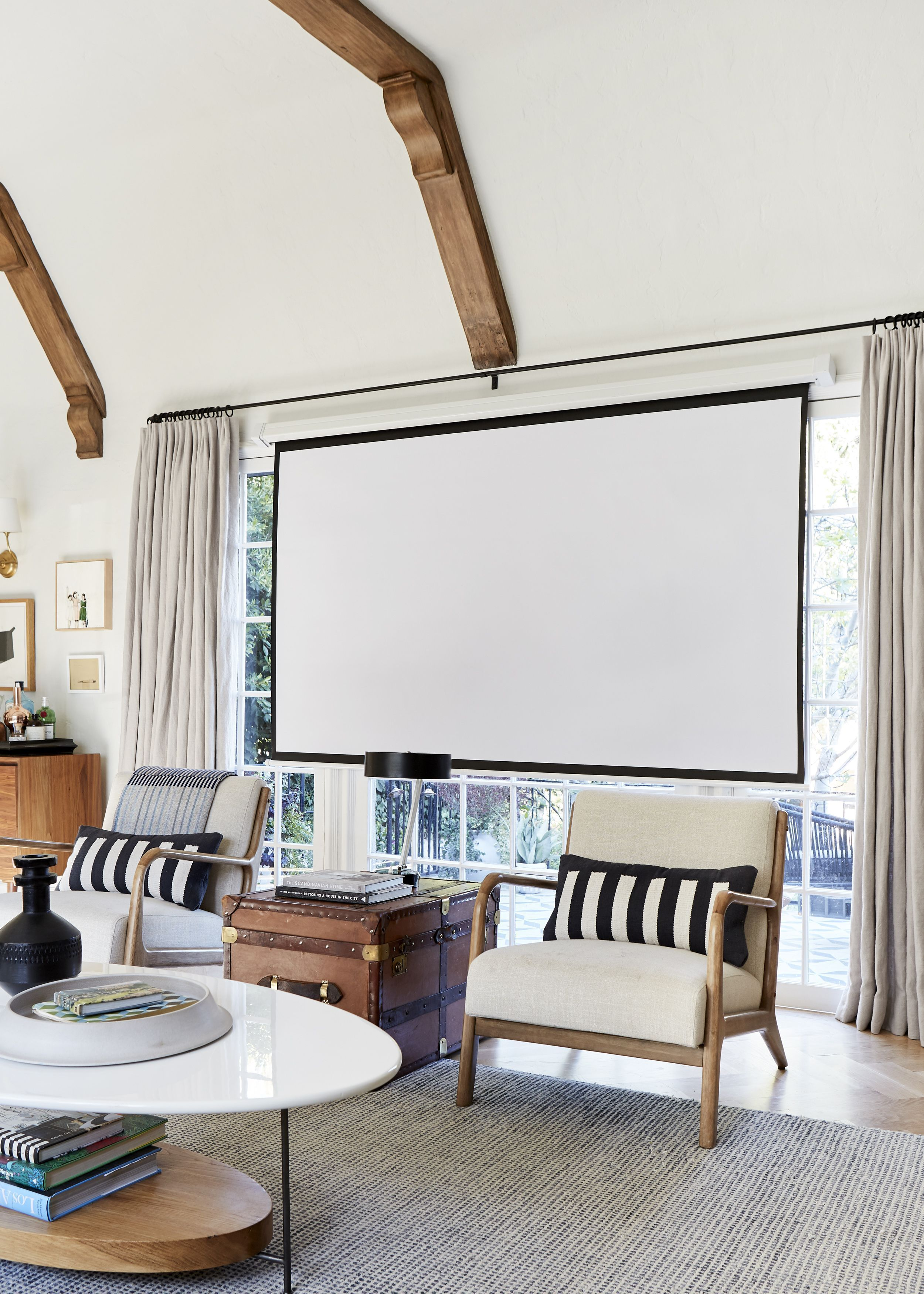 At Home Pull Down Projector Screen Home, Farm house