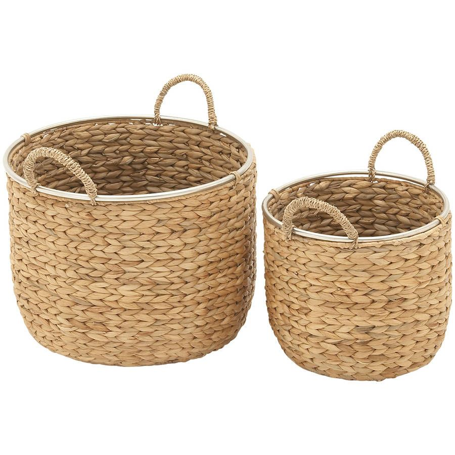 Durable Set Of Two Sea Grass Baskets Seagrass Basket Basket Sets Wicker