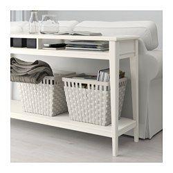 "LIATORP Console table - white, glass 52 3/8x14 5/8 "" | Liatorp, Sofa table decor, Ikea console table"