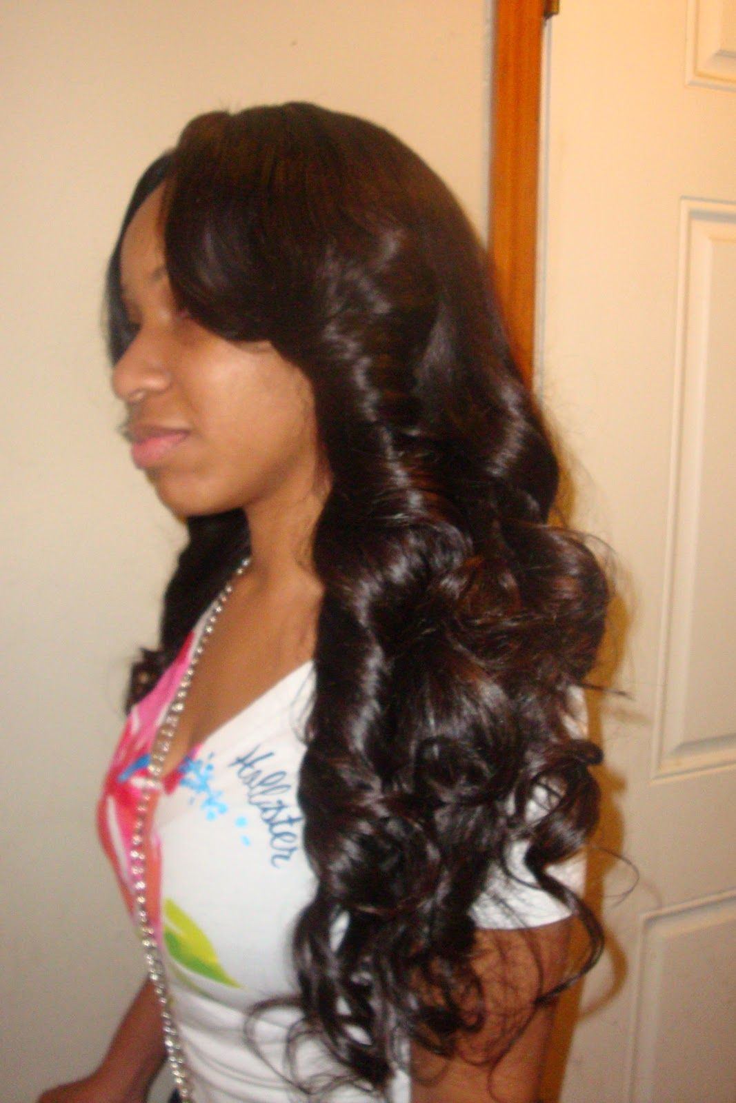 full sew in weave with side bangs | places to visit | pinterest