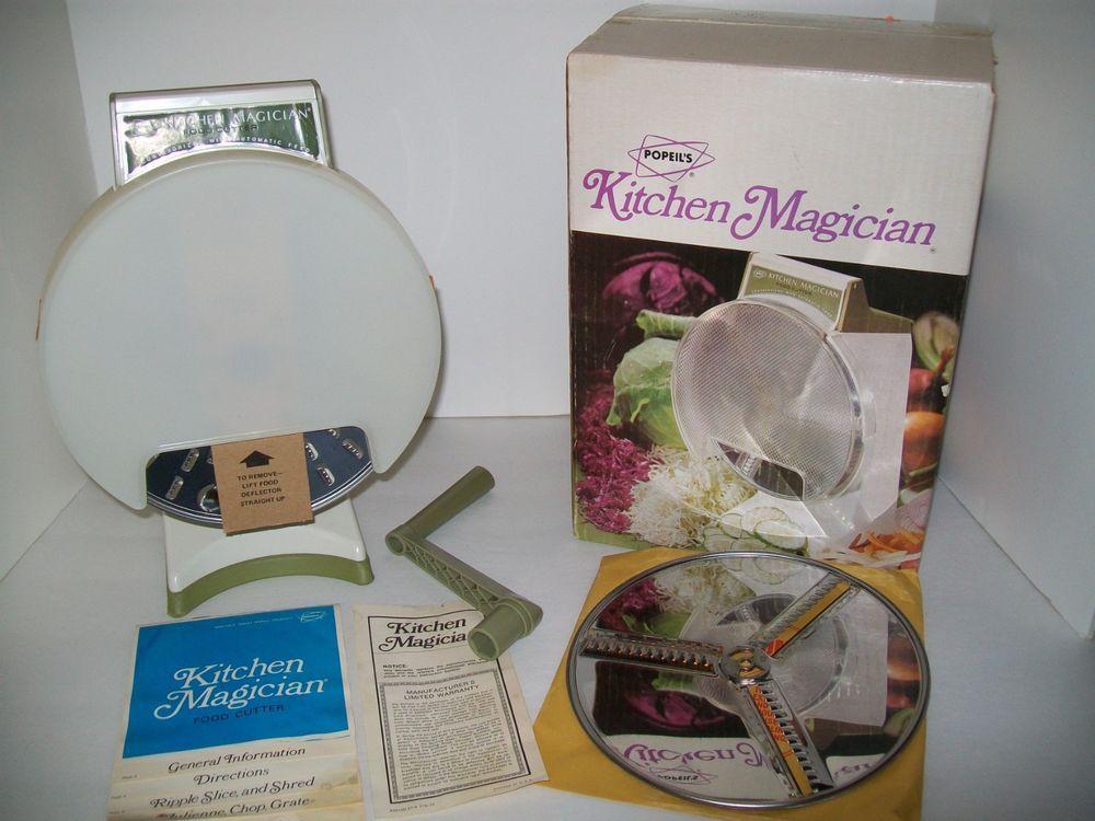 Kitchen Magician White Hutch Cabinet Sold Vintage Popeil S Food Processor Hand Crank Orig Box Unused New