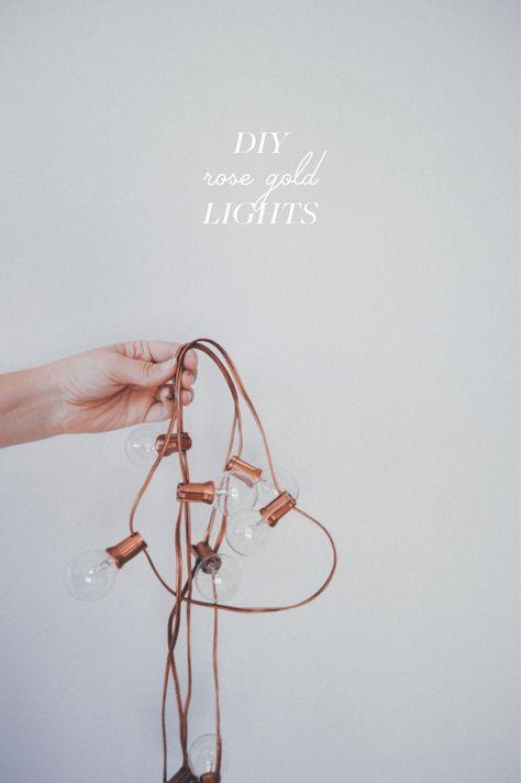 Diy Rose Gold Holiday Lights Decoration Interieure Idee De