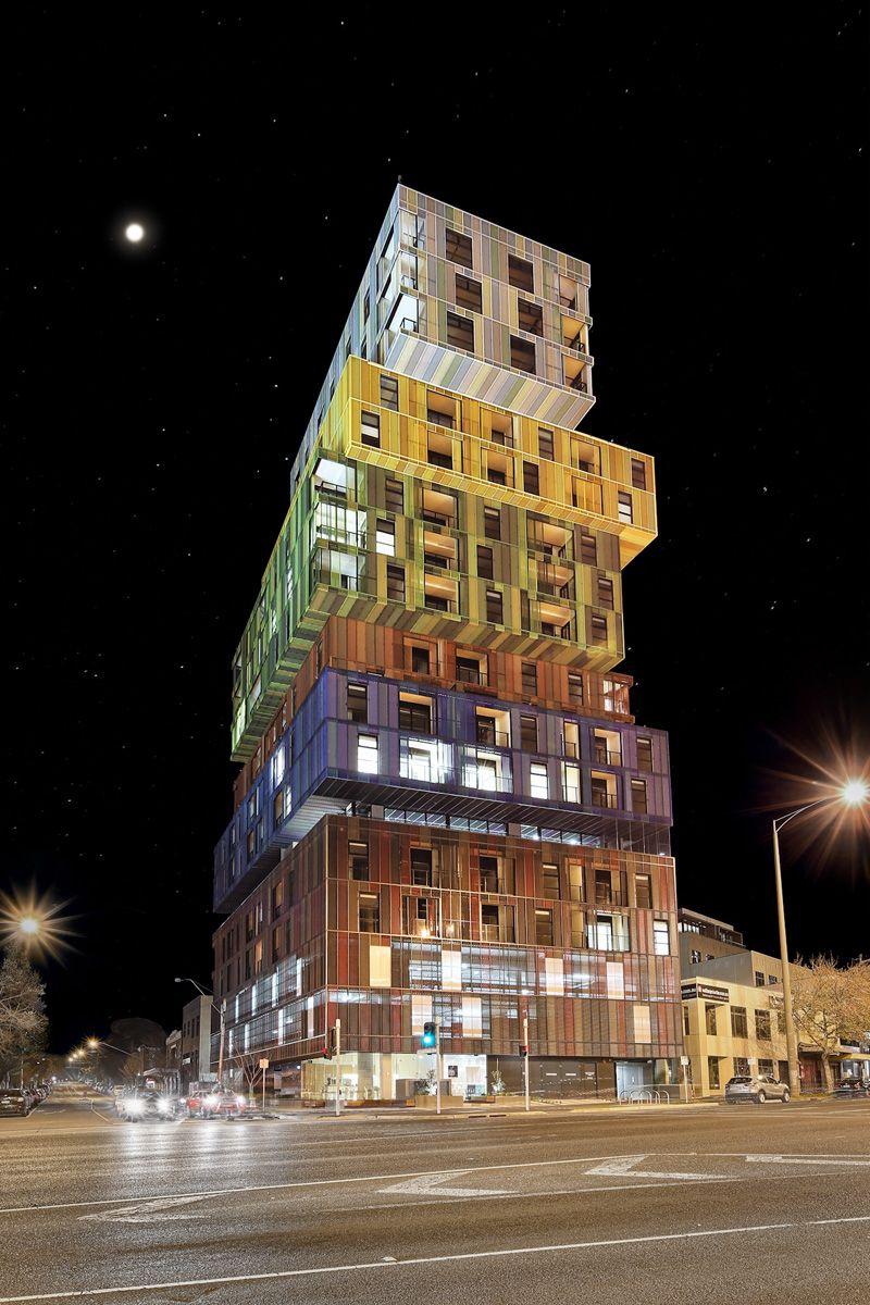 El diseño de la fachada del edificio fue una colaboración entre los ...