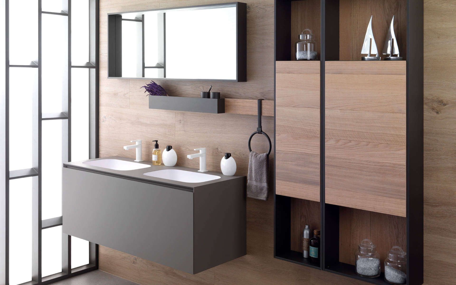 Mobilier De Salle De Bain Meubles De Salle De Bain Porcelanosa Elegant Bathroom Bathroom Design Contemporary Bathroom Furniture