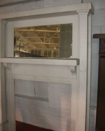 "Antique Fireplace Mantel / Mantle w/ Mirror  Size:    firebox opening: 35 3/4"" wide x 35 1/2"" tall  shelf: 56 1/4"" wide x 10"" deep  72 3/4"" tall  ******************************************************..."