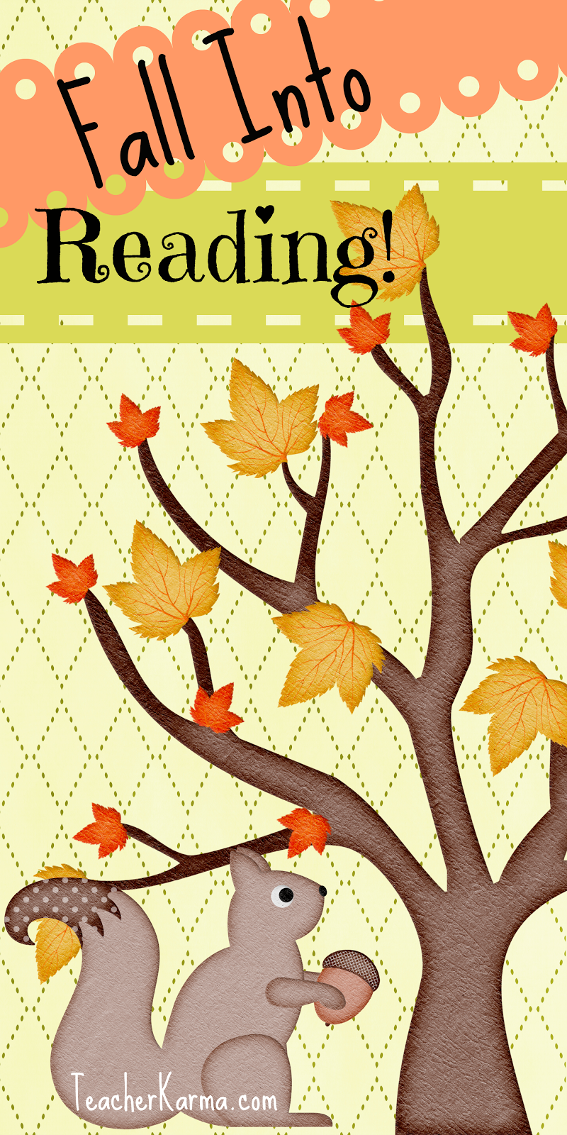 Image result for fall into reading clipart