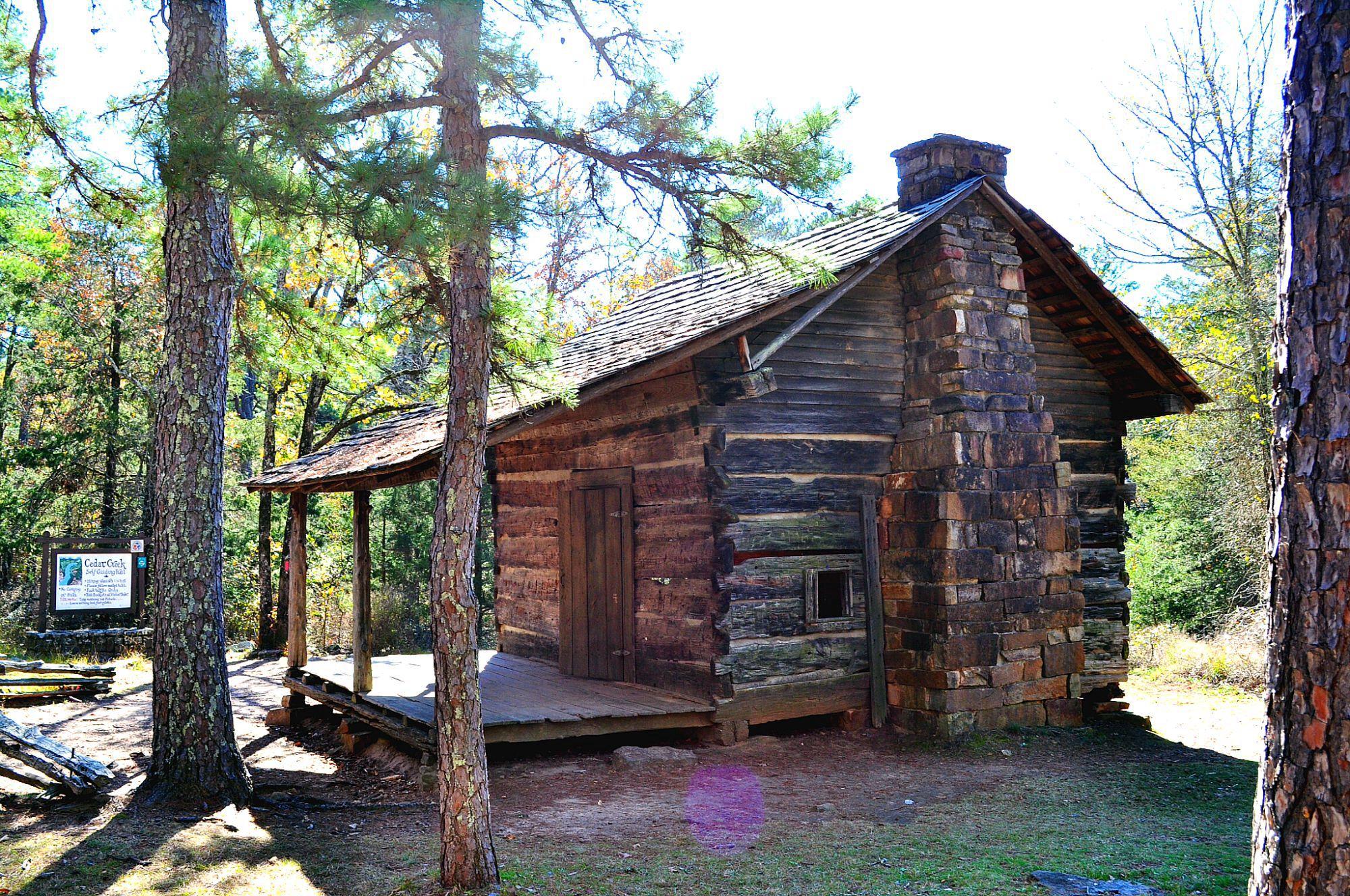John walker cabin 1845 petit jean mt arkansas cabins treehouses lake houses - Maison en bois montana cutler ...