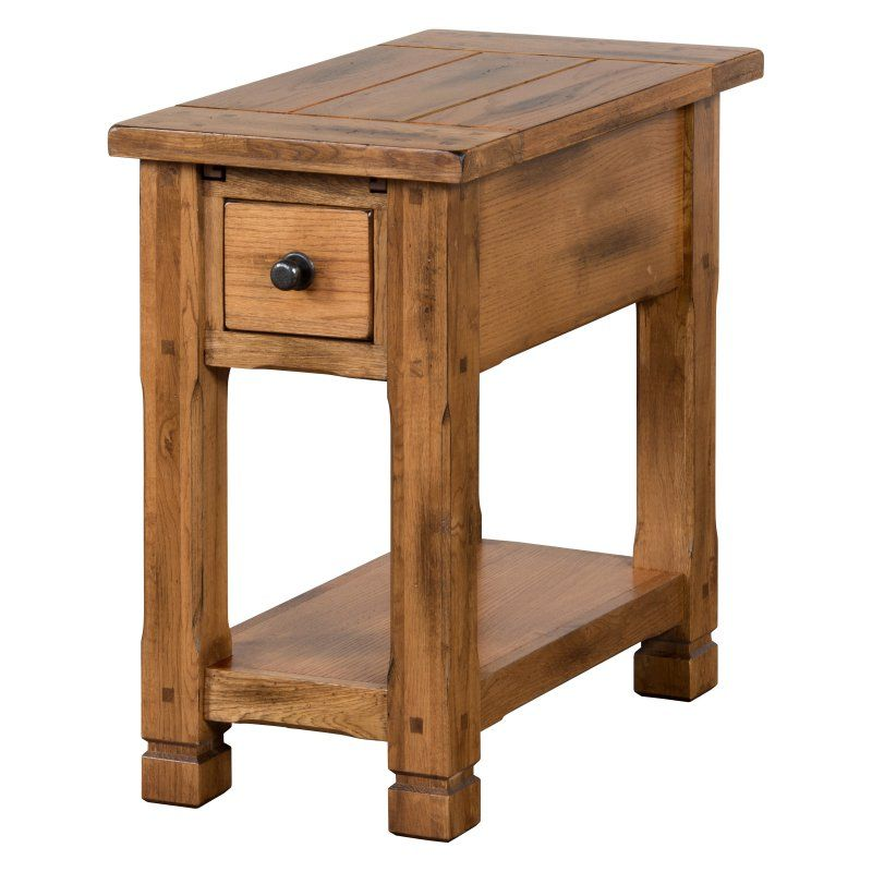 Best Sunny Designs Sedona 1 Drawer Chair Side Table 3133Ro Cs 400 x 300