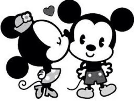 Resultado de imagen para mickey y minnie mouse wallpaper blanco y ...