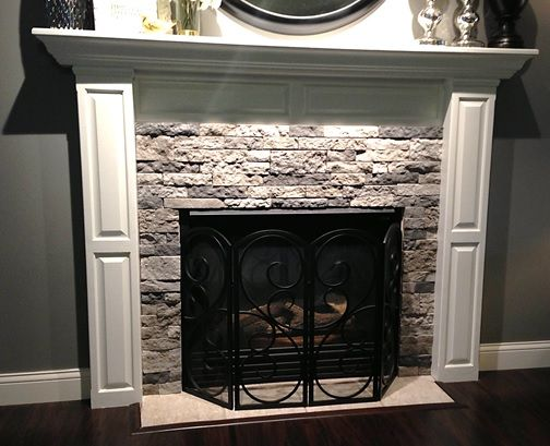 Fireplace makeovers - Would Love To Do This Exact Thing With Air Stone To Our Fireplace