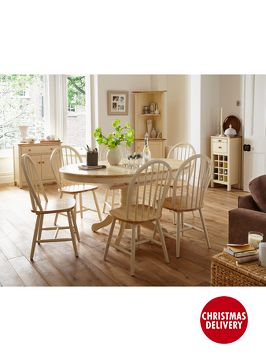 HOME COLLECTION Kildare Round Dining Table and 4 Chairs Set d6b50ee18