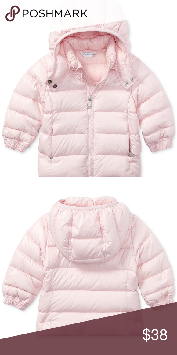 7a2fa0b12 RALPH LAUREN baby pink puffer jacket Very good condition. Chanel ...