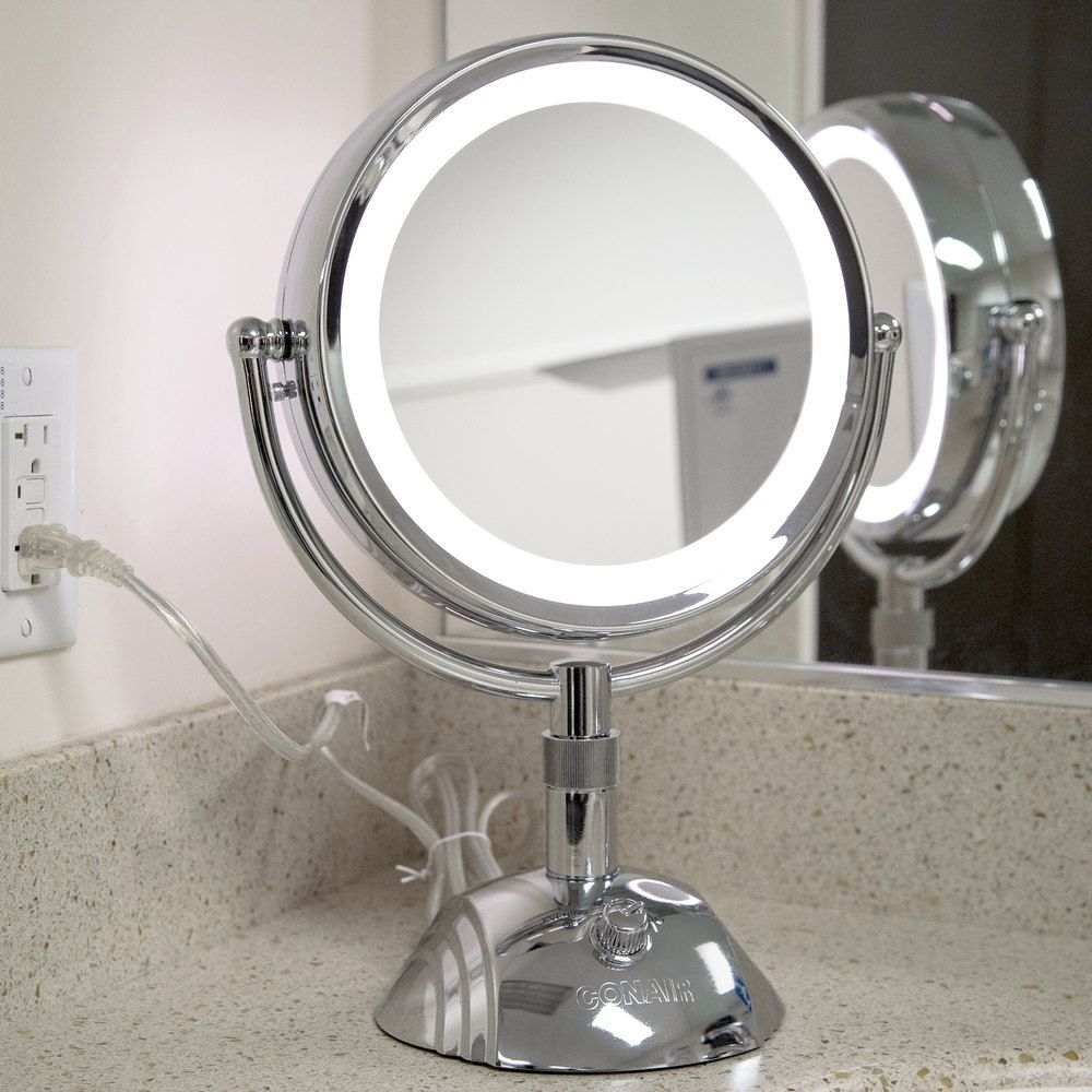 Conair Be6sw Telescopic Makeup Mirror With Light Small Vanity Mirror Diy Vanity Mirror Diy Makeup Mirror