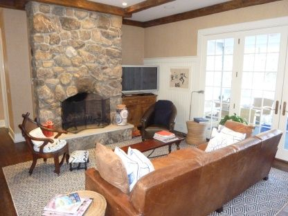 Town  Country Real Estate -Southampton #townandcountry #fireplace
