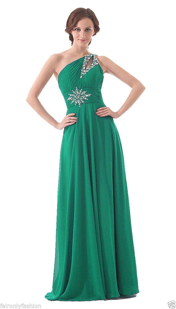 FairOnly Stock One Shoulder Formal Evening Party Dress Size:6 8 10 ...